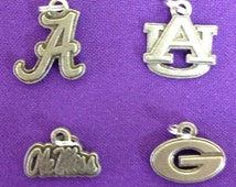 Licensed Collegiate Charms in Pewter for UGA, Alabama, Auburn and Florida