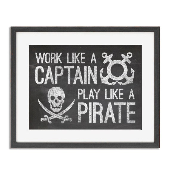 work like a captain Shop work like a captain play like a pirate by fourscore available as a t shirt, art print, phone case, tank top, crew neck, pullover, zip, and sticker.