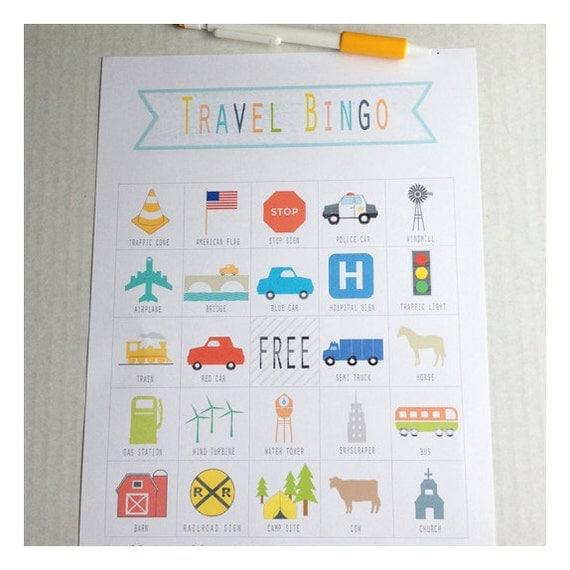 Printable Travel Bingo Game