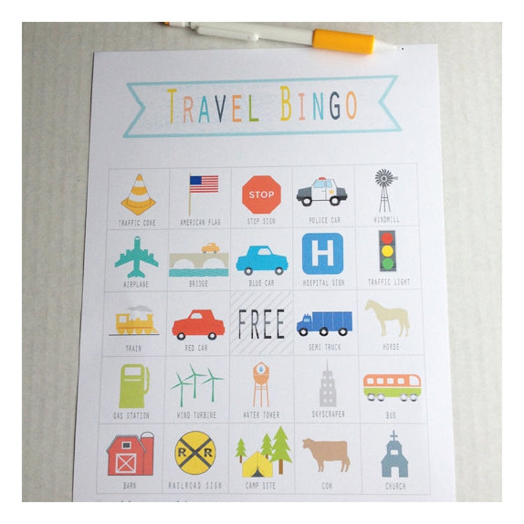 This is an image of Divine Travel Bingo Game
