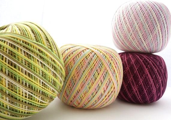 Crochet Cotton 10 Variegated Cotton Yarn Size 10 Thread