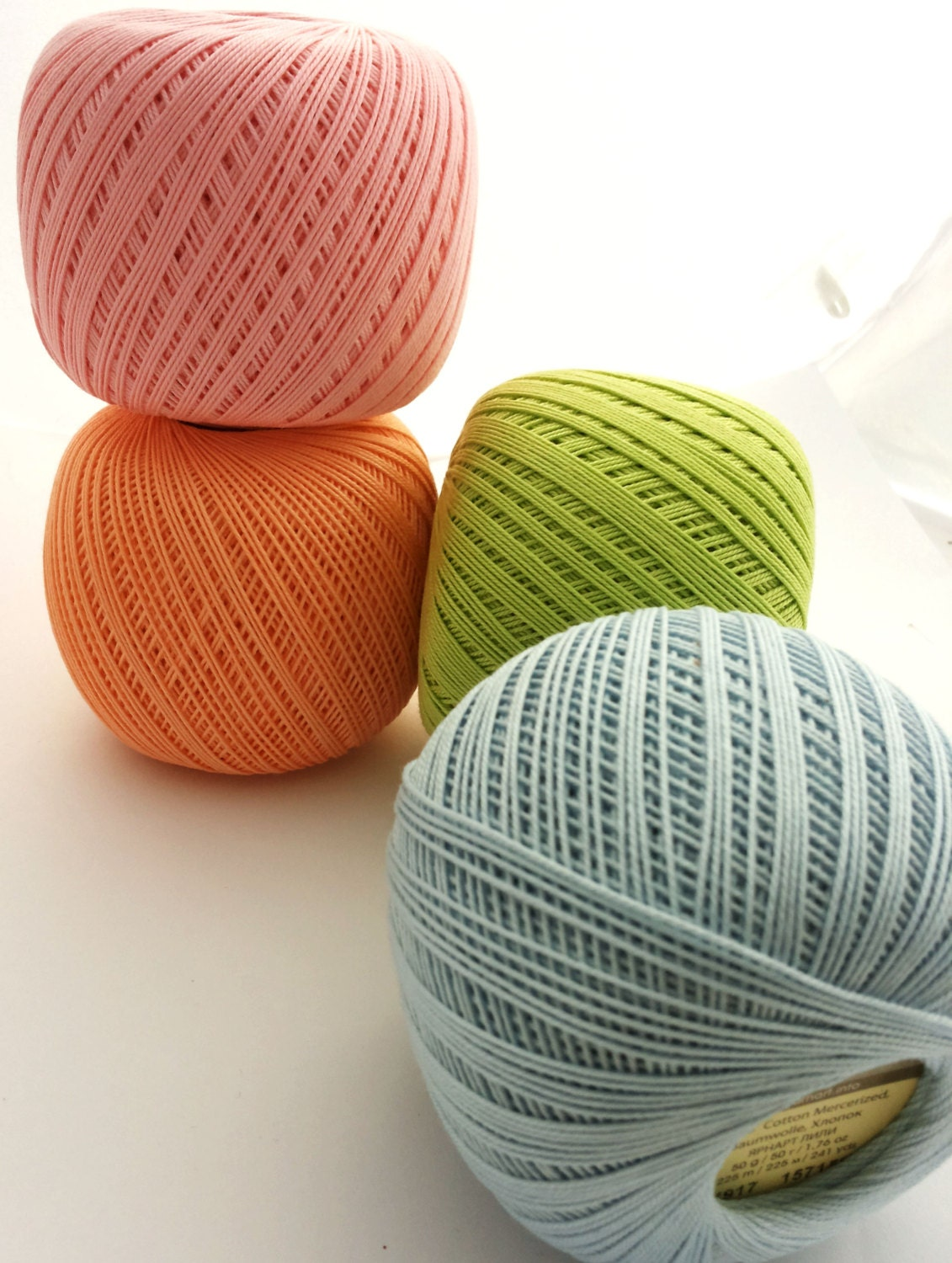 crochet cotton yarn 10 size 10 thread 3 ply by Fiscraftland