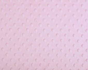 Baby pink Dimple Minky from Shannon Fabrics 1 yard
