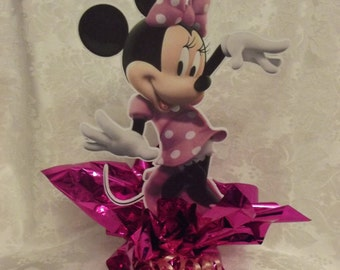 Mini Pink Dress Minnie Mouse Centerpiece #2 Style