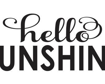 """Spring/Summer STENCIL**hello Sunshine** 6""""x12"""" for Painting Signs,Gardens, Inspirational, Airbrush, Crafts, Wall Decor, Love"""