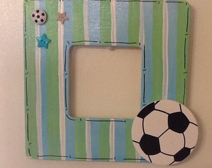 Soccer frame, big brother frame, sport frame, big sister frame, family frame