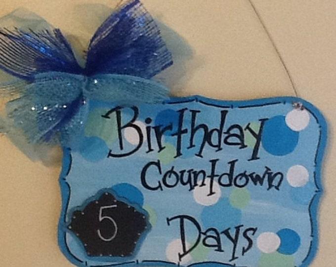 Birthday countdown sign, boys birthday countdown, celebration countdown, birthday sign, boys birthday sign, happy birthday sign,
