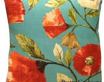 Harlequin Lisanne Impasto Tangerine & Aqua Cushion Cover
