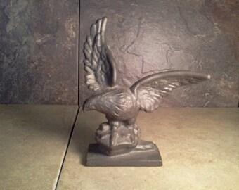 Cast Iron - Eagle - Pedestal Figurine - Nice