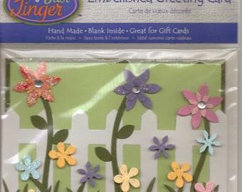 Just Jinger FLOWERS Embellished Greeting Card