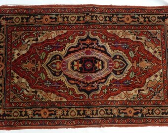 SALE! Org 495.00 Antique Persian Oriental Rug 58 x 36