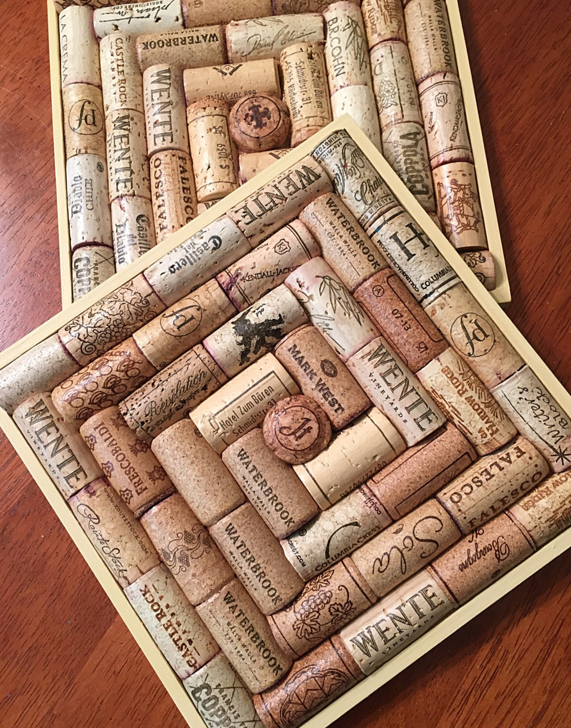 Recycled wine cork trivets set of 2 for Crafts to make with wine corks