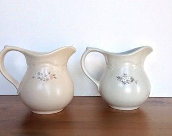 vintage set pfaltzgraff creamers heirloom and remembrance pattern - Pfaltzgraff Patterns