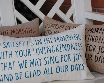 O satisfy us in the morning  (Psalm 90:14)