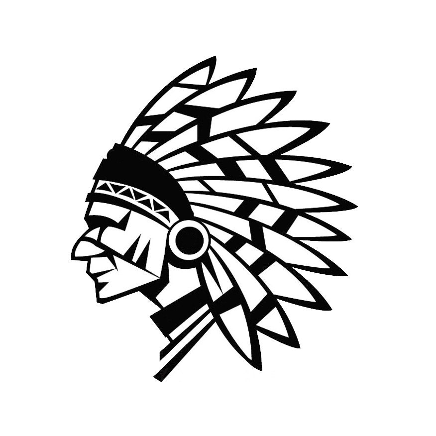 Indian Chief Native American With Feather Head Piece