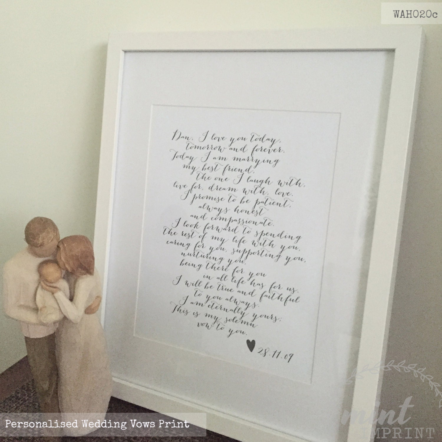 Ideas Wedding Day Gifts For Wife wedding vows print bride and groom by ...