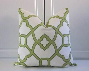 Pillow Cover- Bali Pistachio Trellis