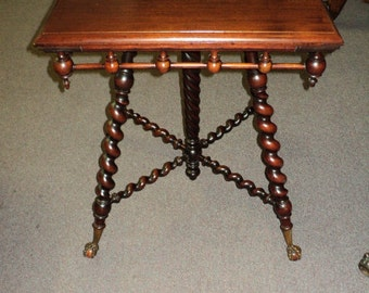 Unique Twisted Leg Table Related Items Etsy