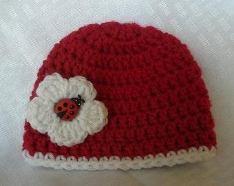 preemie lady bug hat