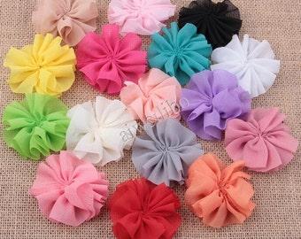 6 cm Chiffon Flower, Folded Flower, Fabric Flower, Diy Hair Accessories H10033