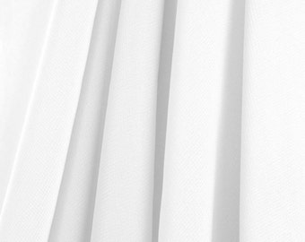 White Chiffon Fabric - by the Yard