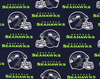 Seattle Seahawks NFL Cotton Fabric - by the Yard