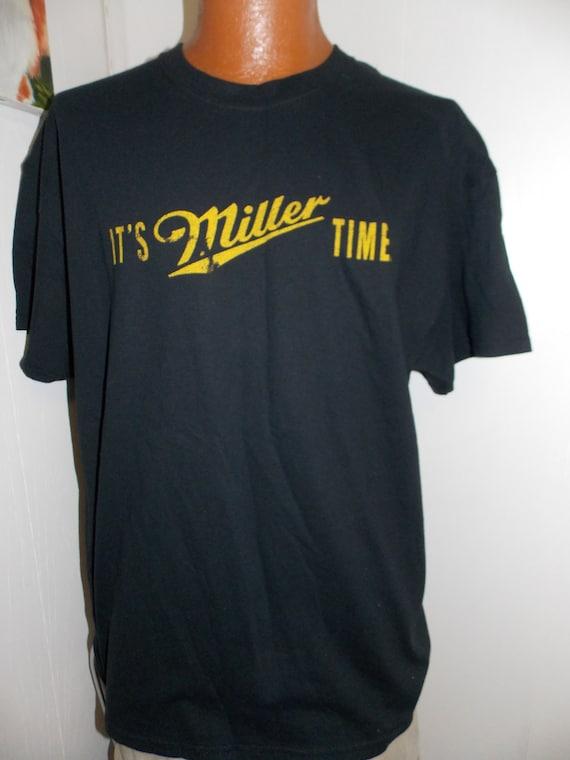 Vintage It 39 S Miller Time Miller Lite Adult T Shirt Size Xl