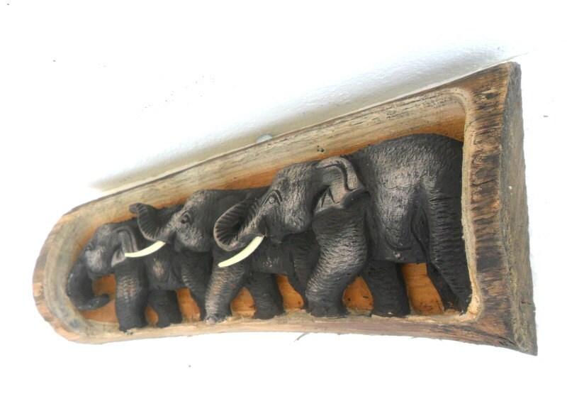 Wood carving elephant hand carved sculpture elephants natural