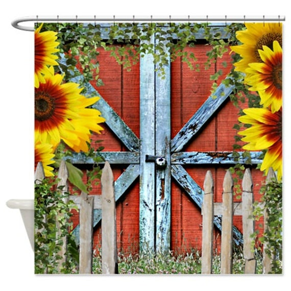 Items Similar To Shower Curtain Barn Door Old Fence