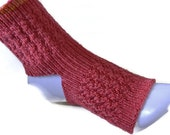 Yoga Socks, Hand Knitted Socks, Dance Socks, Pilates Pedicure Toe Less Socks,Flip-Flop Womens Gift Hand Dyed Superwash Bluefaced Leicester