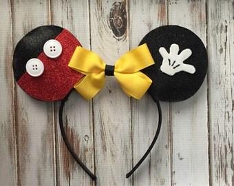 Mickey inspired ears, Mickey Mouse, Disney, Mickey ears, Disneyland, Disney World
