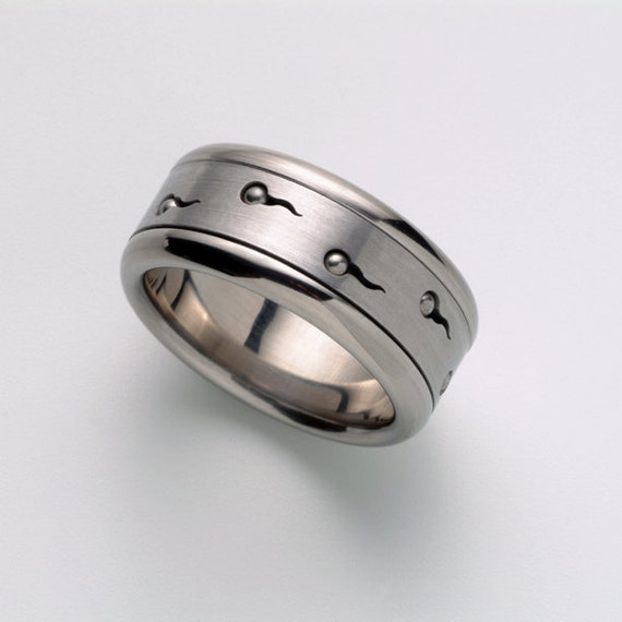Unique Wedding Band Man\'s Ring Cool Man Ring Band