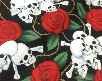 Half Yard-designer, Nicole de Leon- The Skulls- The Alexander Henry Fabrics Collection