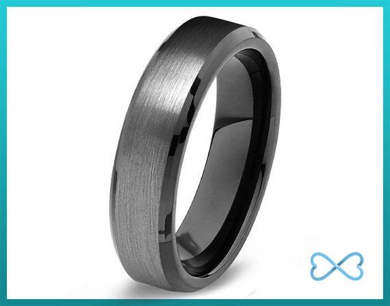 tungsten wedding bands mens ring mens wedding bands black