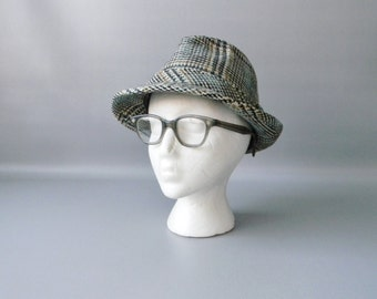 Vintage Plaid Wool Fedora Hat