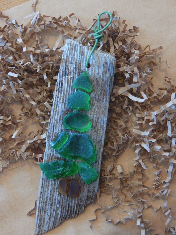 Diy Driftwood And Maine Sea Glass Christmas By