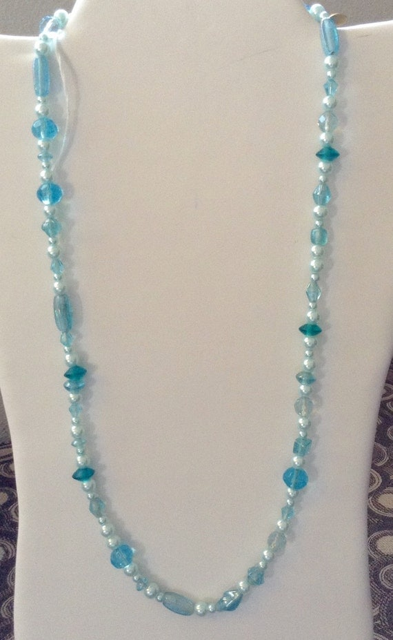 baby blue sparkles 25 necklace by myshoponly on etsy
