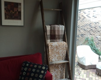 Distressed Rustic Blanket Ladders