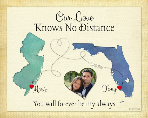 Long distance relationship gift for boyfriend by keepsakemaps for Going away gifts for boyfriend
