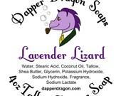 Shaving Soap SAMPLE - Lavender Lizard w/ Tallow