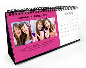 12.7 x 27.9 cm, classic photo desk calendar