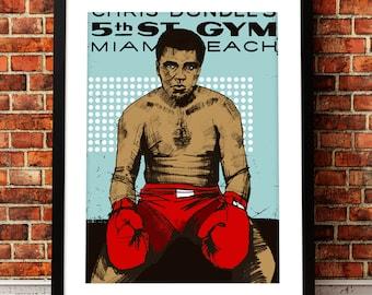Muhammad Ali portrait print, Muhammad Ali art print, Muhammad Ali inspired print, Muhammad Ali print, Muhammad Ali, boxing print