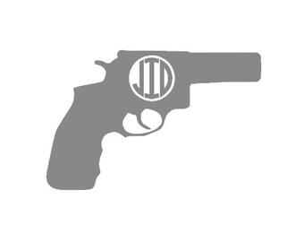 Pistol Monogrammed Decal