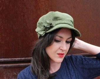 Green cap woman