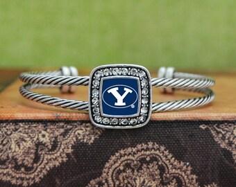 BYU Cougars Square Cuff Bracelet