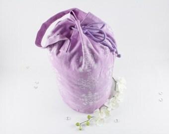 Pink Luggage bag, Rucksack, duffle bag, travel sack, screen printed with ellipse shaped pattern.