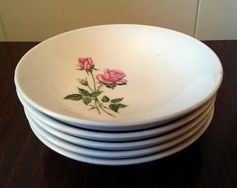 5 Vintage Royal China Inc. Tea Rose Dessert Bowls