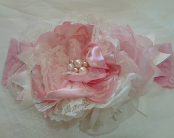 Baby headband, newborn headband, pink headband