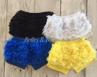 Royal  - Petti Chiffon Shorts - Baby Shorts - Girls Shorts - Petti Shorts - Ruffle Shorts - Chiffon Shorts - Bloomers - Shorties - 4th July