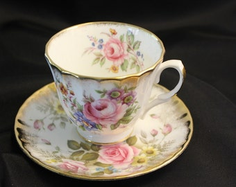China tea cup and saucer - Royal Winchester Made in England